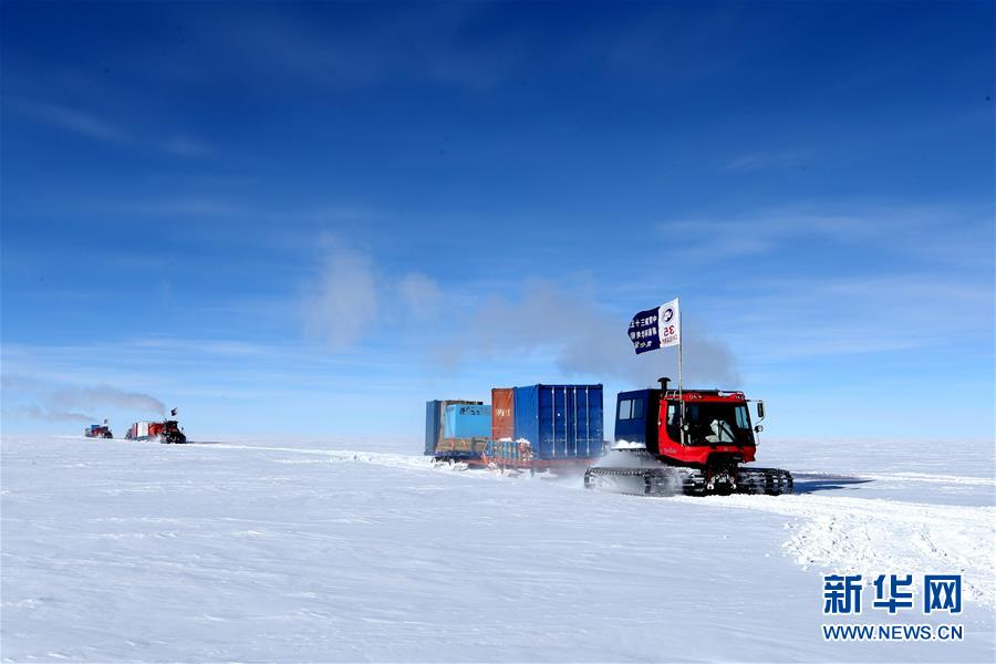 """(""""雪龙""""探南极・图文互动)(1)中国科考队16名队员顺利抵达南极昆仑站"""