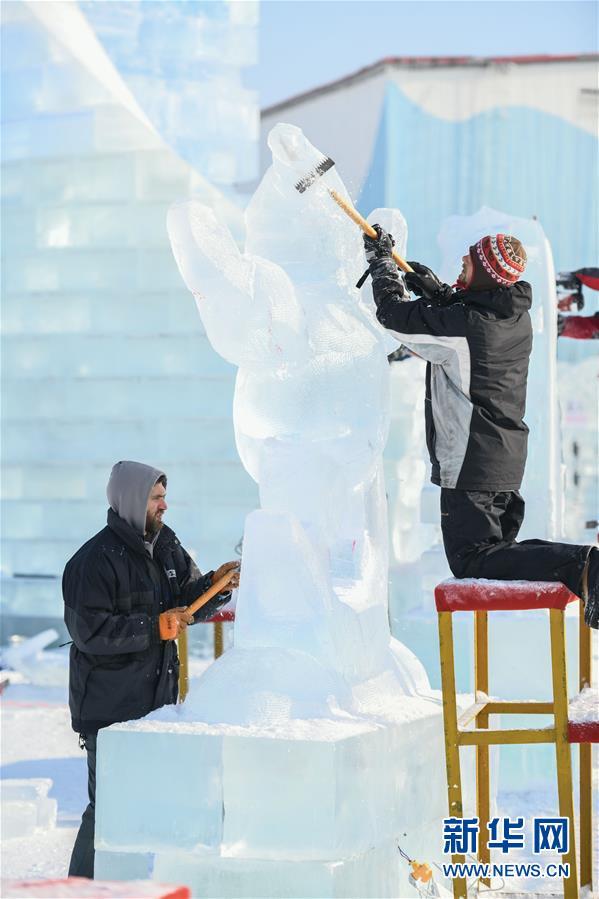 (社會)(4)第33屆哈爾濱國際冰雕比賽開鏟