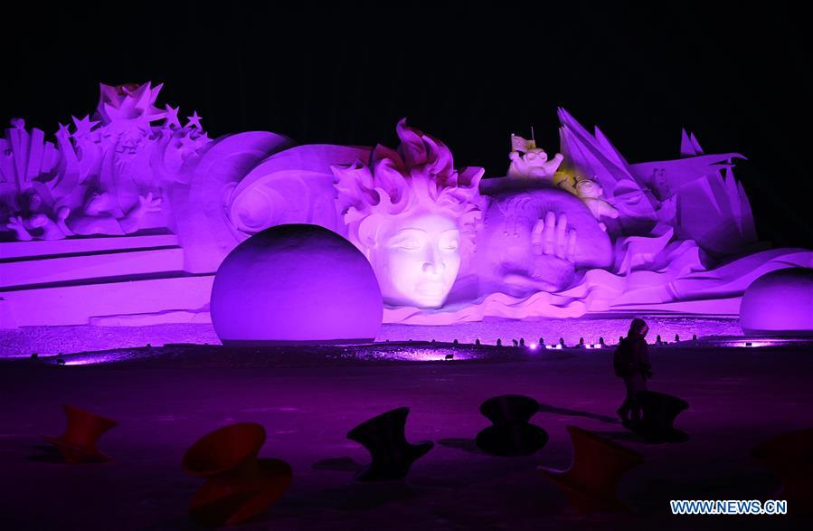 CHINA-HEILONGJIANG-HARBIN-SNOW SCULPTURE ART EXPO (CN)