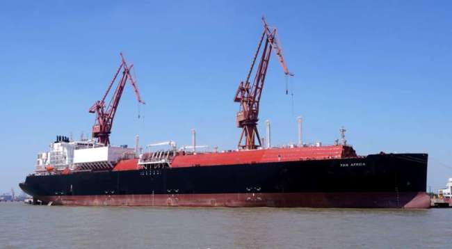 China's biggest liquefied natural gas carrier ship