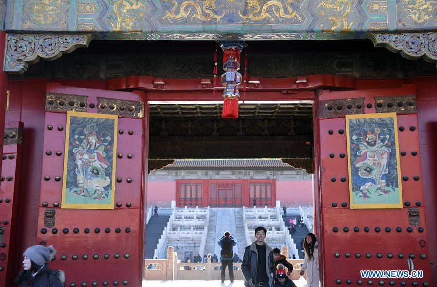 (InPalaceMuseum)CHINA-BEIJING-THE FORBIDDEN CITY-SPRING FESTIVAL CELEBRATION (CN)