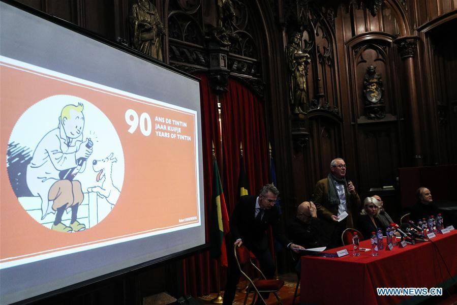 BELGIUM-BRUSSELS-COMIC-TINTIN-90TH ANNIVERSARY