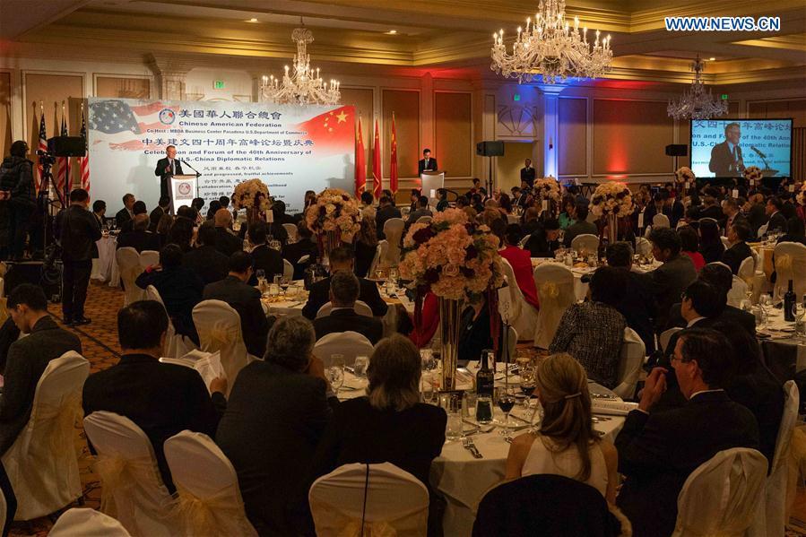 U.S.-LOS ANGELES-CHINA-DIPLOMATIC RELATIONS-40TH ANNIVERSARY-CELEBRATION