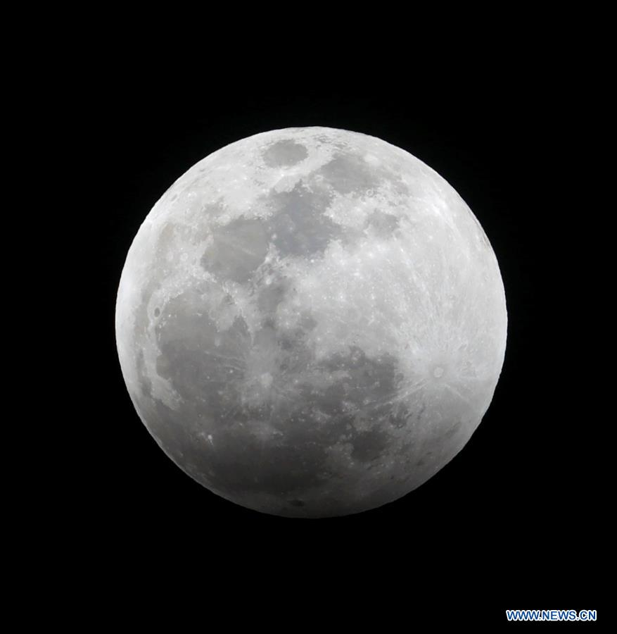 Supermoon captured in Los Angeles