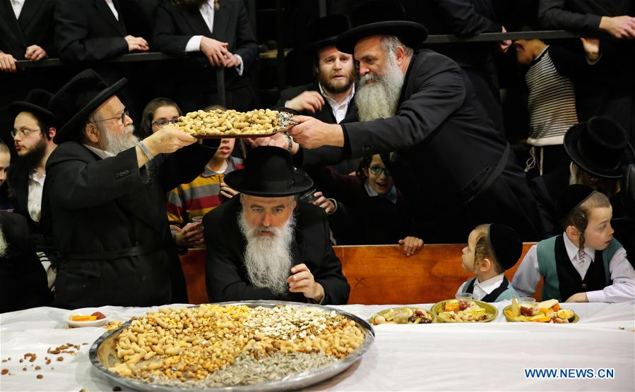 Ultra-Orthodox Jews celebrate traditional Jewish holiday in Israeli city of Rechovot
