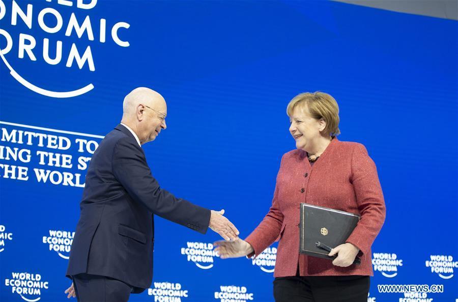Merkel vows to safeguard multilateralism at WEF meeting