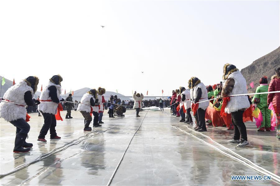 #CHINA-INNER MONGOLIA-HOHHOT-TRADITIONAL WINTER FISHING (CN)