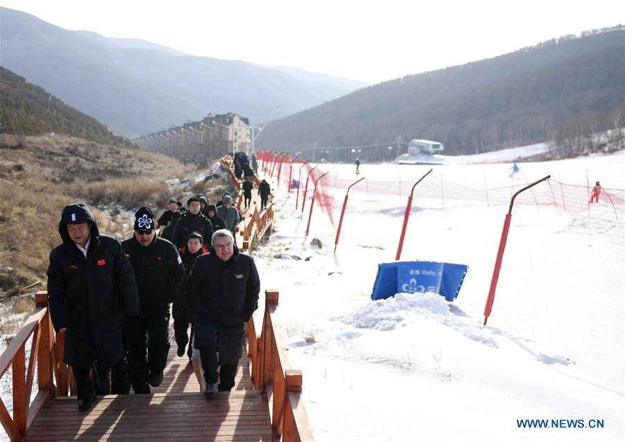 (SP)CHINA-BEIJING OLYMPIC WINTER GAMES-IOC PRESIDENT-VISIT