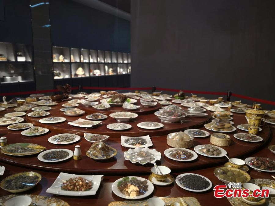 A feast for the eyes: stone-made banquet on display in Gansu