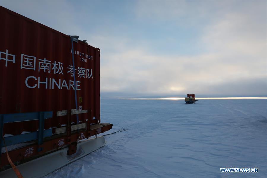 Kunlun team of China's 35th Antarctic expedition arrives at Taishan station