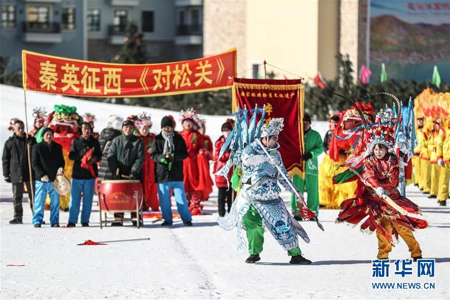 """(新春走基层)(1)小村庄里传承百年的""""武社火"""""""