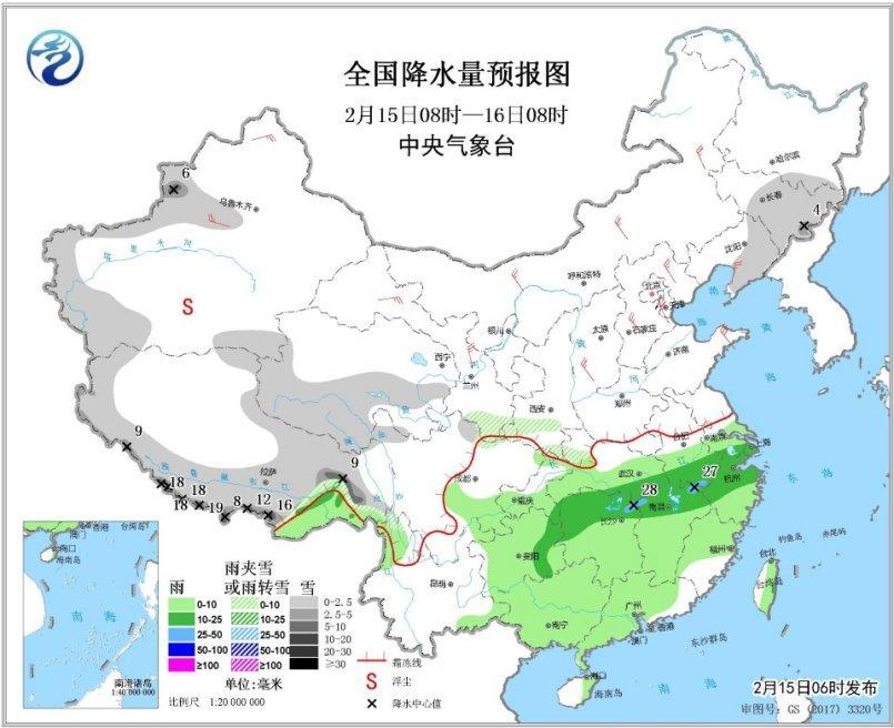 未来一周南方多阴雨西北华北黄淮有降雪过程