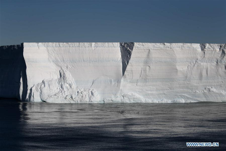 Photo taken on Feb. 14, 2019 shows an iceberg on the sea near the Zhongshan Station, a Chinese research base in Antarctica. The Zhongshan Station was set up in February 1989. Within tens of kilometers to the station, ice sheet, glacier and iceberg can all be seen. (Xinhua/Liu Shiping)