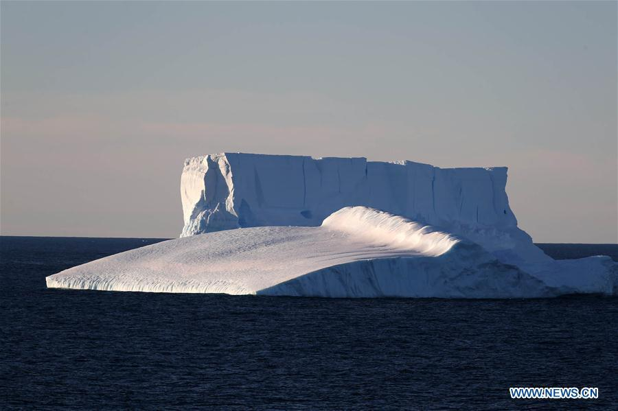 Photo taken on Feb. 14, 2019 shows an iceberg on the sea near the Zhongshan Station, a Chinese research base in Antarctica. The Zhongshan Station was set up in February 1989. Within tens of kilometers to the station, ice sheets, glacier and iceberg can all be seen. (Xinhua/Liu Shiping)