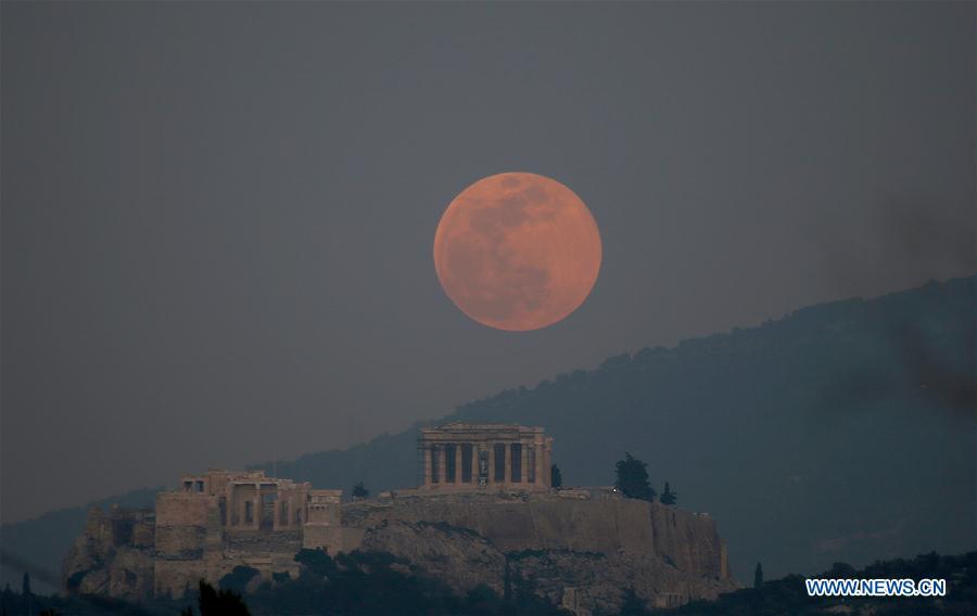 GREECE-ATHENS-ACROPOLIS-FULL MOON