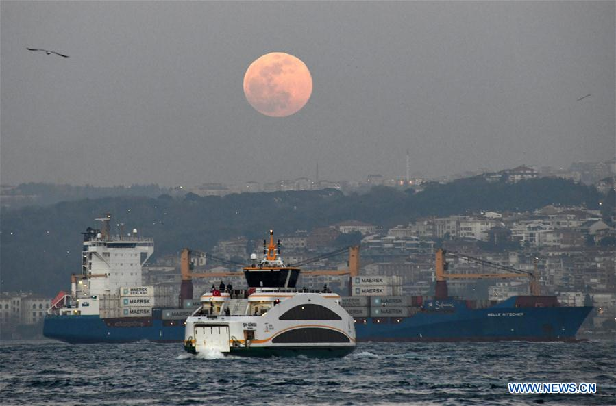 TURKEY-ISTANBUL-FULL MOON