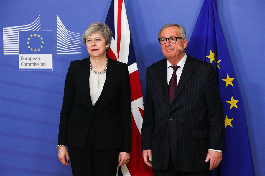BELGIUM-BRUSSELS-EU-JUNCKER-BRITAIN-PM-MEETING