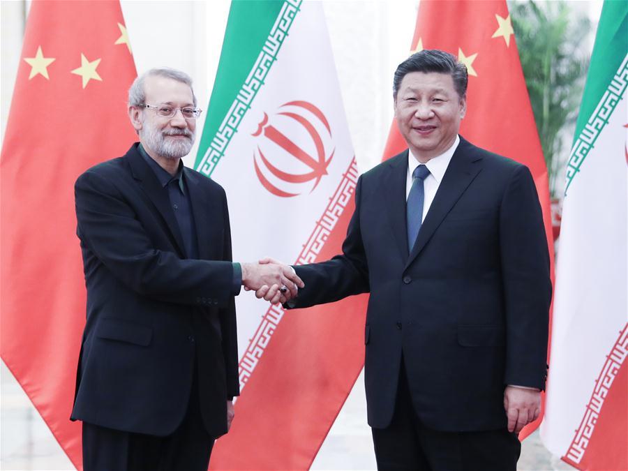 CHINA-BEIJING-XI JINPING-IRAN-PARLIAMENT SPEAKER-MEETING (CN)
