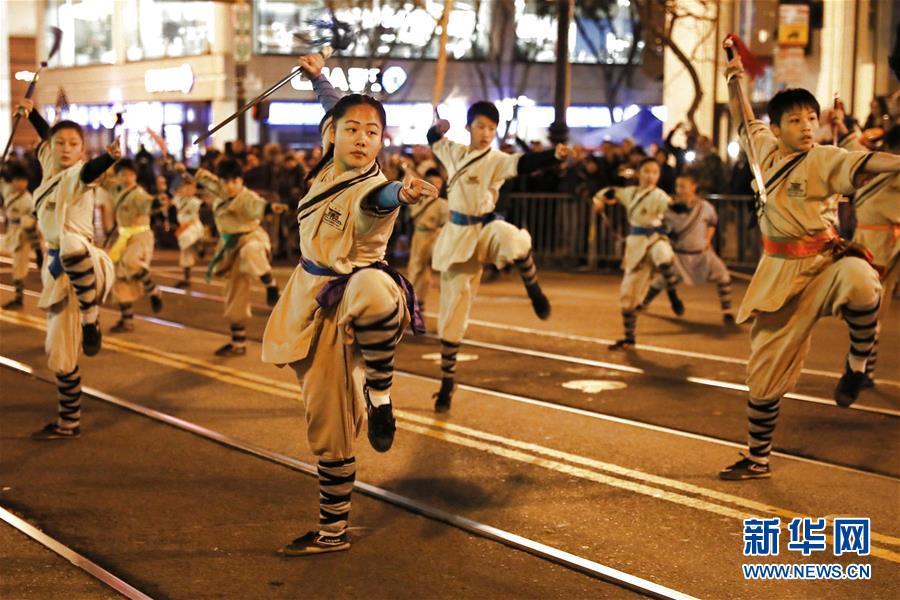 (國際)(1)舊金山舉行中國農歷新年大巡游