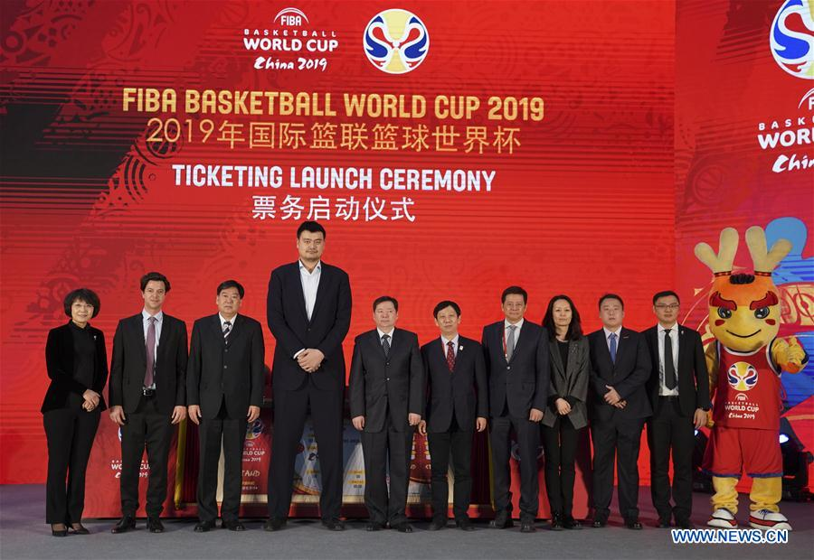 (SP)CHINA-BEIJING-BASKETBALL-WORLD CUP-TICKETING LAUNCH CEREMONY