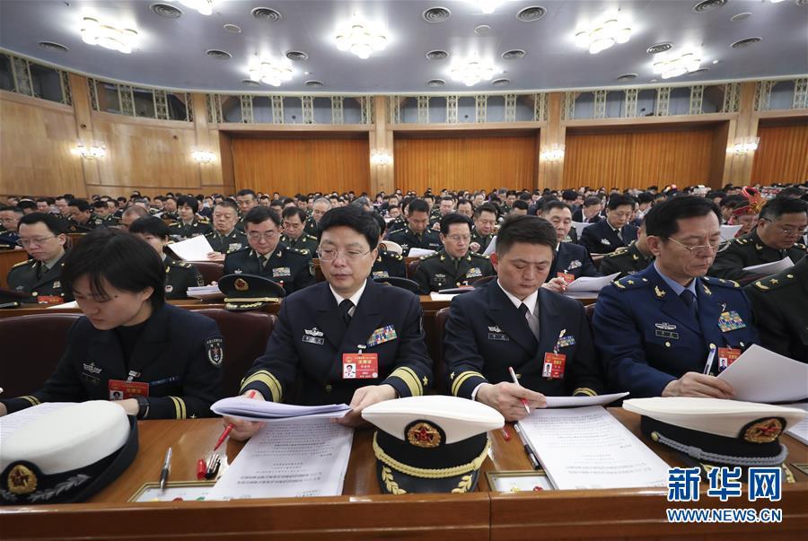 (两会・人大开幕・XHDW)(9)十三届全国人大二次会议在京开幕