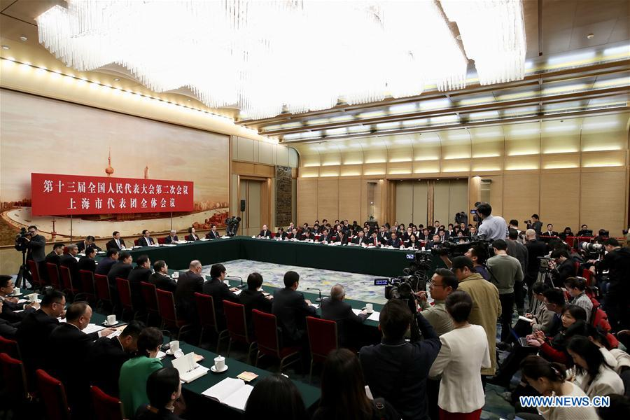 (TWO SESSIONS)CHINA-BEIJING-NPC-SHANGHAI DELEGATION-PLENARY MEETING (CN)