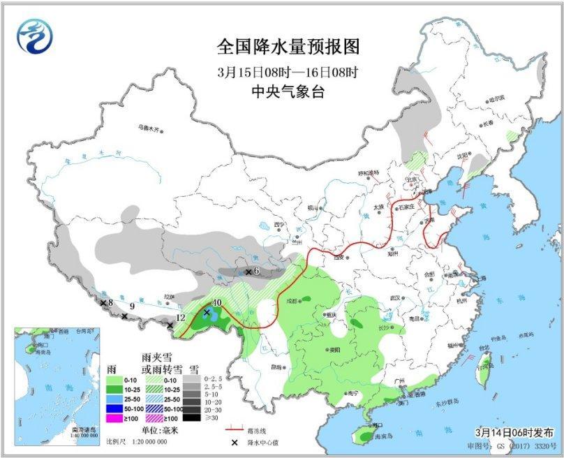 北方地区多冷空气活动西藏青海有较强降雪
