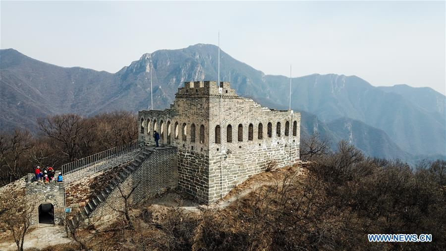 CHINA-BEIJING-GREAT WALL-JIUYANLOU-AERIAL VIEW (CN)