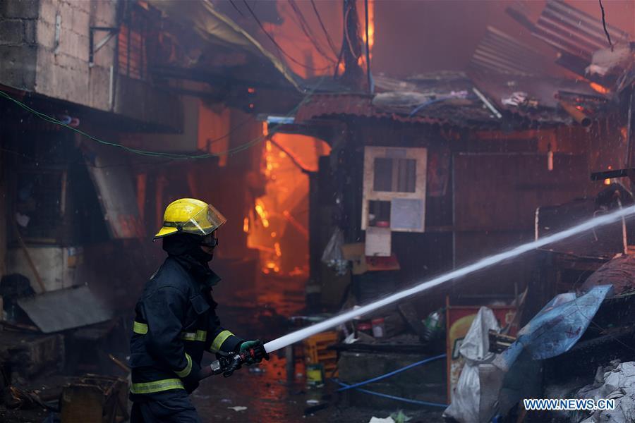 Over 250 shanties razed in fire in Quezon City, the Philippines