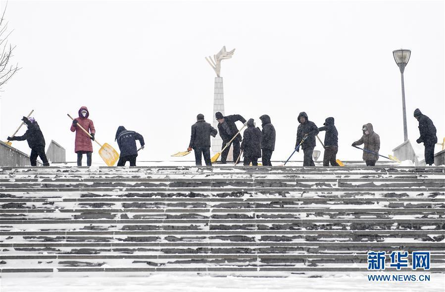 (社会)(7)吉林长春:积极应对风雪考验