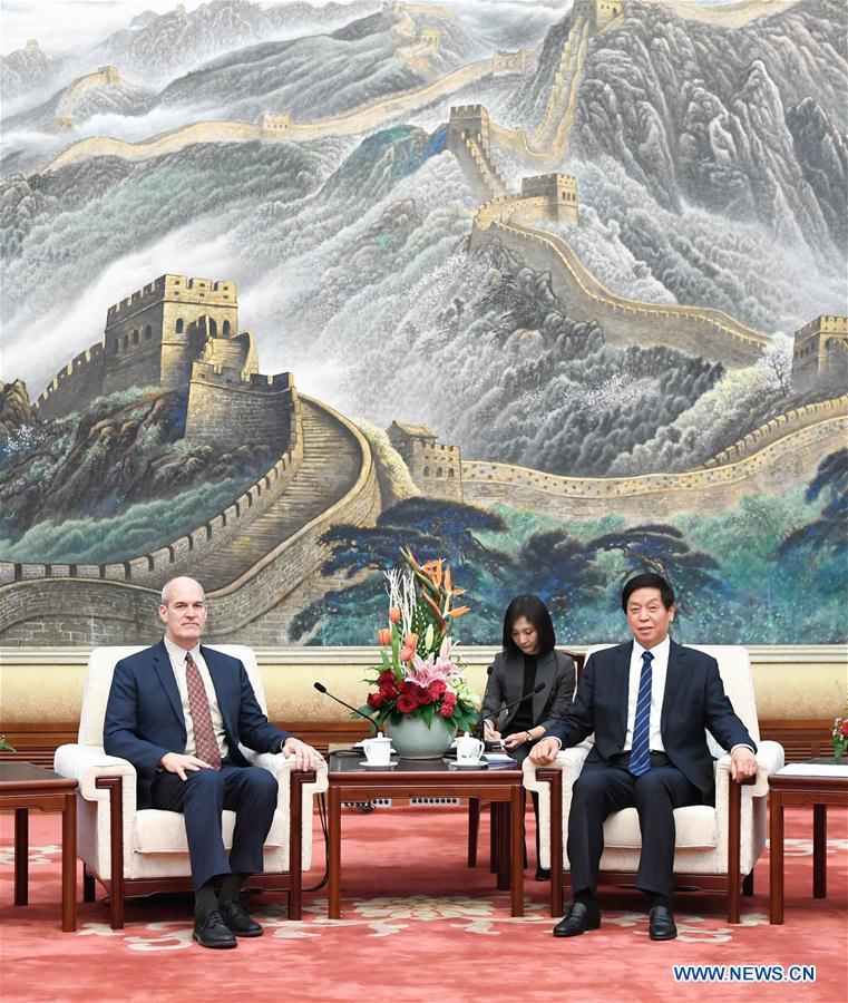 CHINA-BEIJING-LI ZHANSHU-U.S. DELEGATION-MEETING (CN)