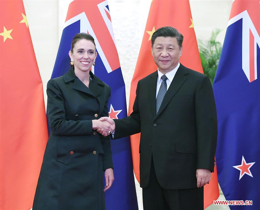 CHINA-BEIJING-XI JINPING-NEW ZEALAND-JACINDA ARDERN-MEETING (CN)