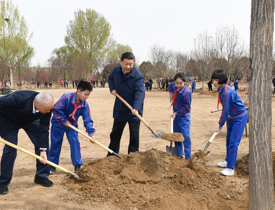 CHINA-BEIJING-LEADERS-TREE PLANTING (CN)