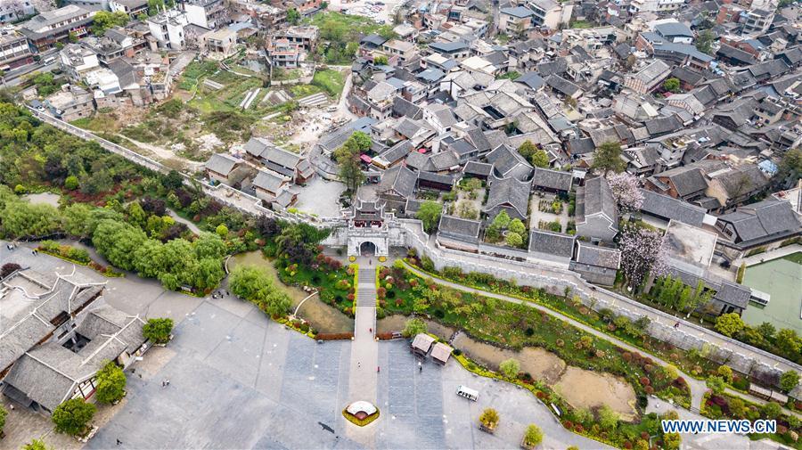 View of Qingyan ancient town in Guiyang, SW China's Guizhou