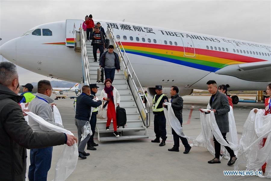 CHINA-LHASA-HELSINKI-INTERCONTINENTAL AIR ROUTE-LAUNCH (CN)