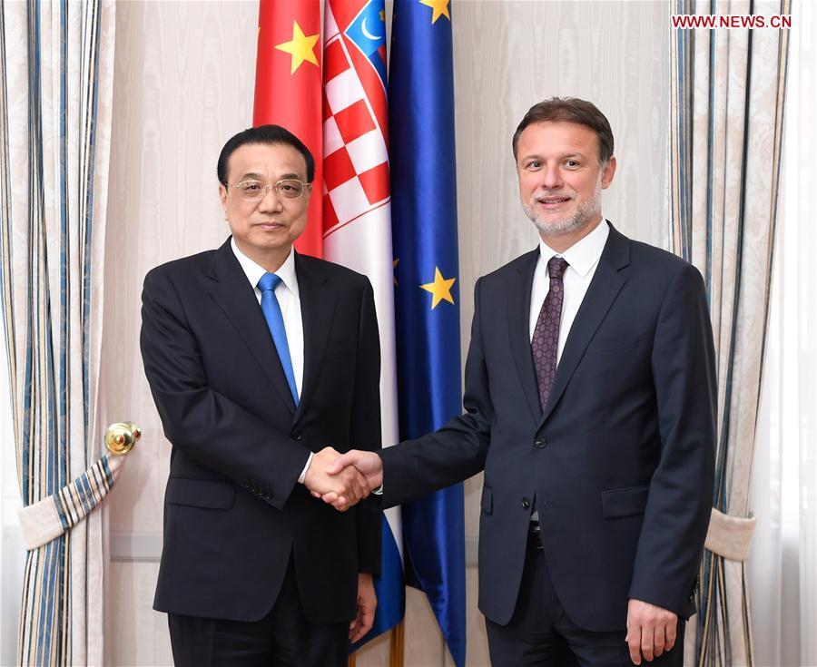 CROATIA-ZAGREB-CHINA-LI KEQIANG-MEETING
