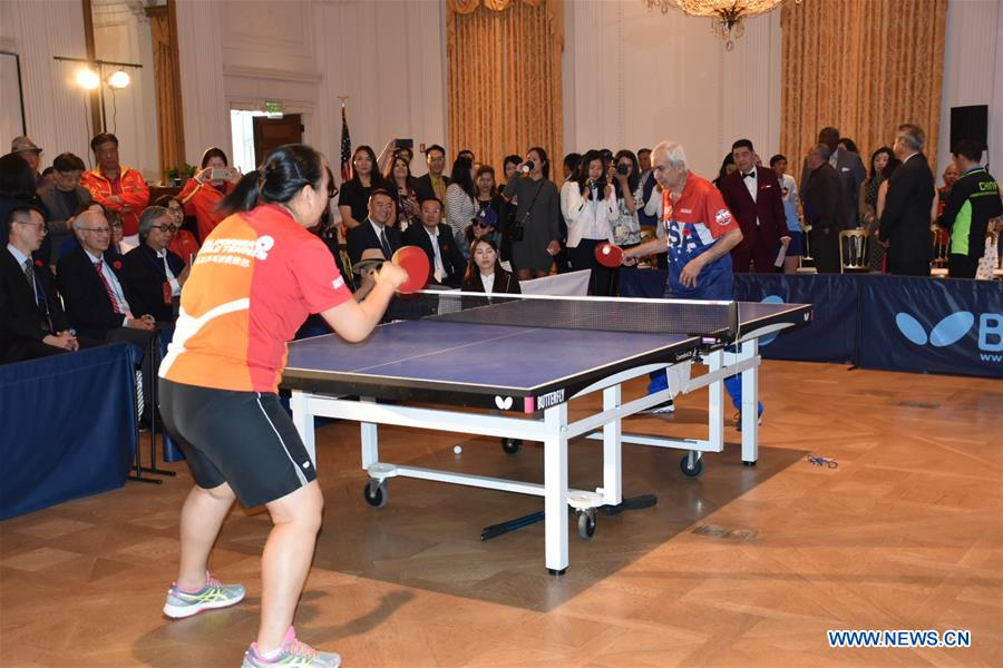 "Commemoration held in California to mark 48th anniversary of China-U.S. ""Ping-Pong Diplomacy"""