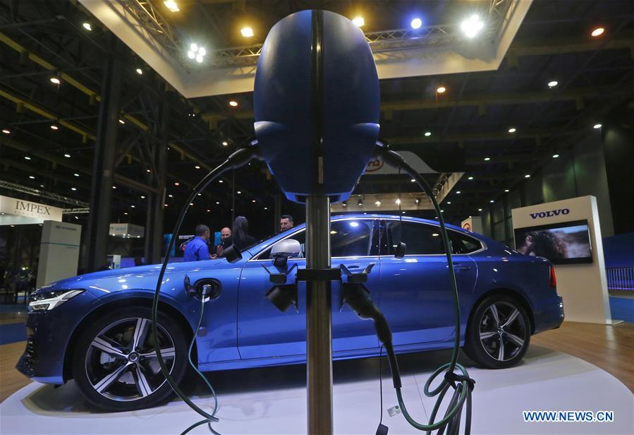 People visit e-Motor Show in Beirut, Lebanon