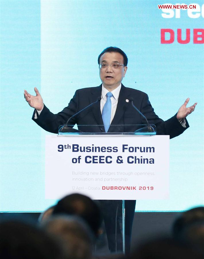 CROATIA-DUBROVNIK-LI KEQIANG-CHINA-CEEC-BUSINESS FORUM