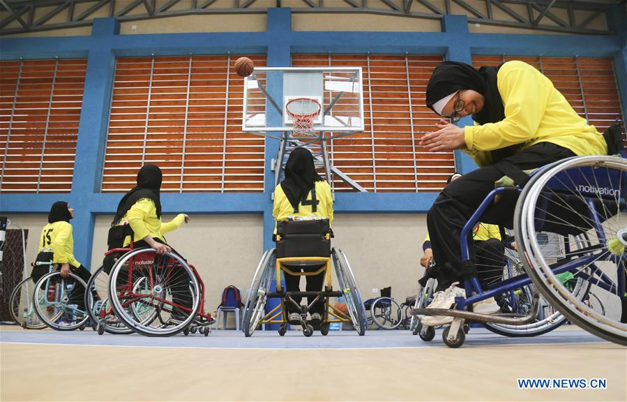 Wheelchair basketball match for Palestinian disabled women held in Gaza City