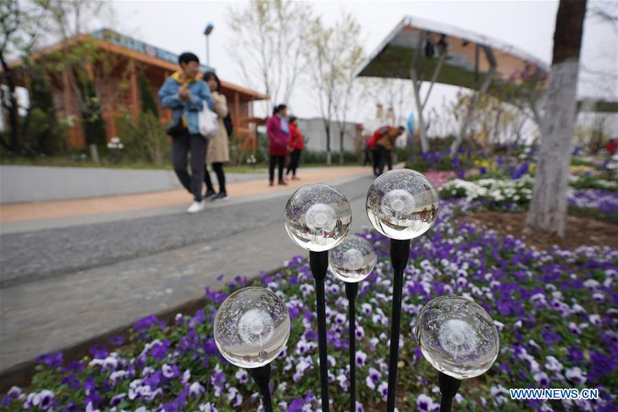 Beijing horticultural expo site conducts trial run