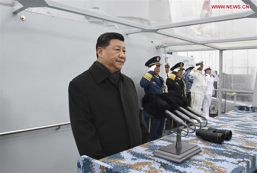 CHINA-QINGDAO-PLA NAVY-70TH ANNIVERSARY-PARADE-XI JINPING-REVIEW (CN)