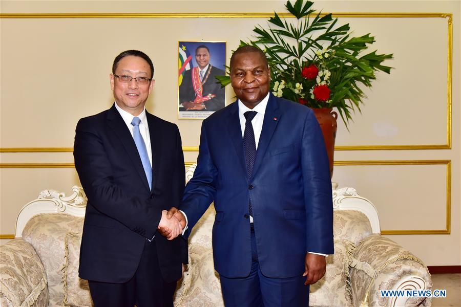 CENTRAL AFRICAN REPUBLIC-BANGUI-CHINA-ZHENG JIANBANG-VISIT