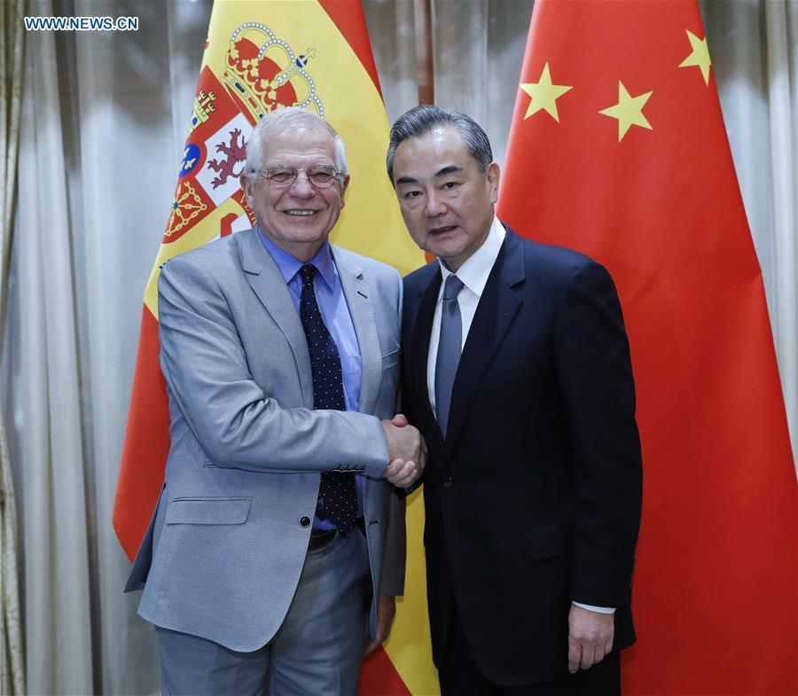 CHINA-BEIJING-WANG YI-SPANISH FM-MEETING (CN)