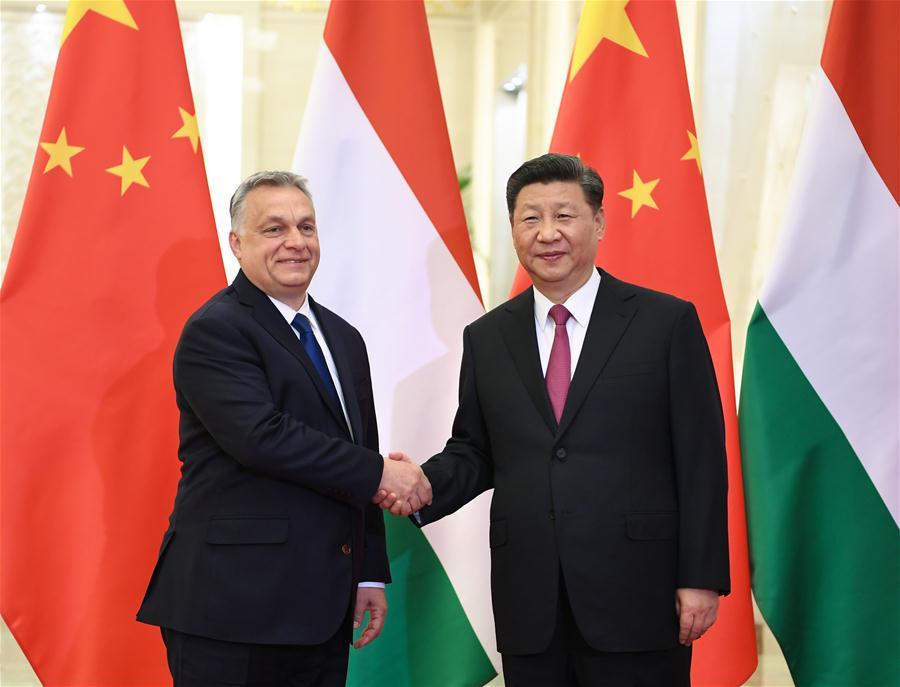 (BRF)CHINA-BEIJING-XI JINPING-HUNGARIAN PM-MEETING (CN)