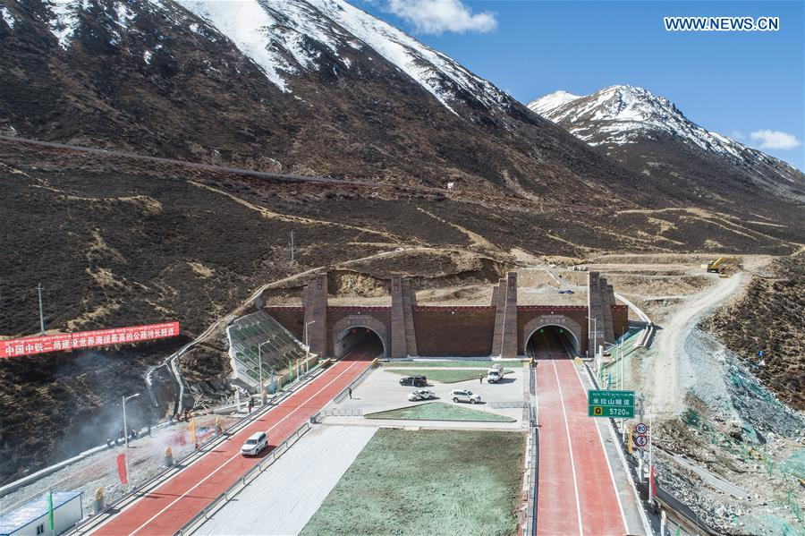 CHINA-TIBET-MILA MOUNTAIN TUNNEL-OPENING (CN)