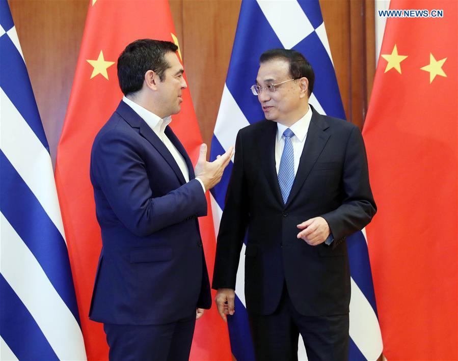 (BRF)CHINA-BEIJING-LI KEQIANG-GREEK PM-MEETING (CN)