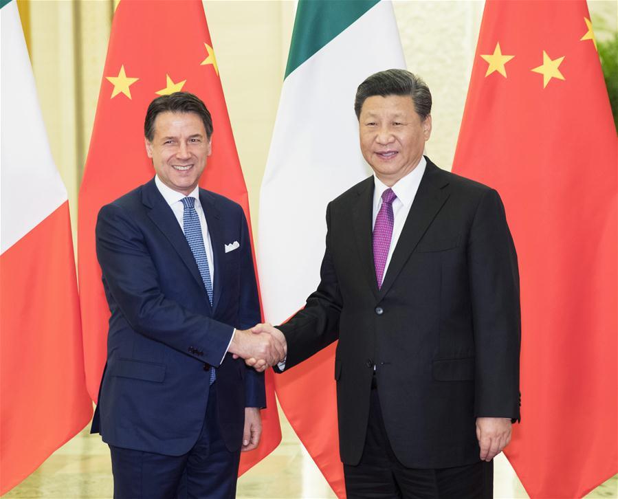 (BRF)CHINA-BEIJING-XI JINPING-ITALIAN PM-MEETING (CN)