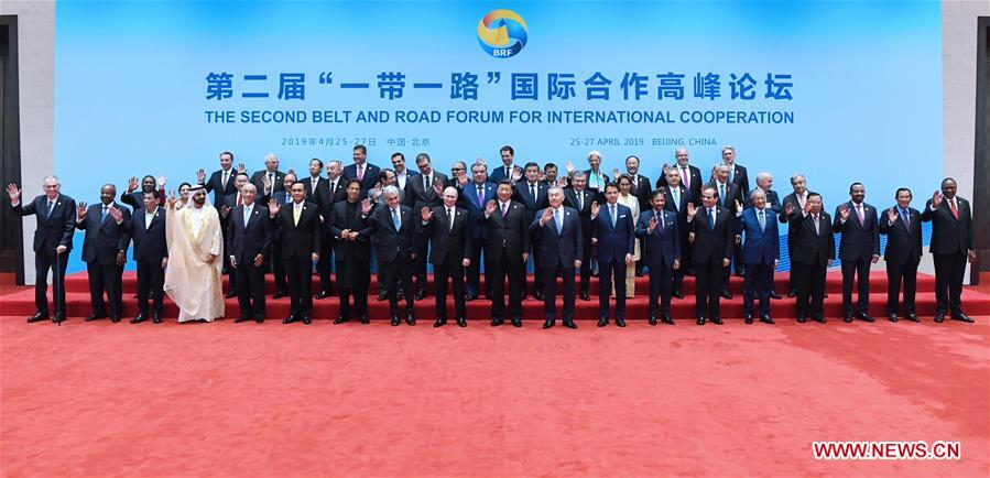 (BRF)CHINA-BEIJING-BELT AND ROAD FORUM-LEADERS' ROUNDTABLE-GROUP PHOTO (CN)