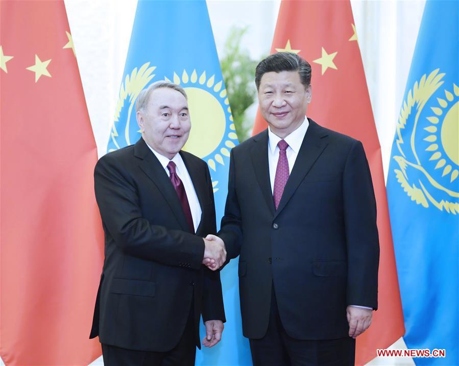 CHINA-BEIJING-XI JINPING-FIRST PRESIDENT OF KAZAKHSTAN-MEETING (CN)